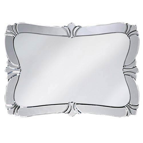 Howard Elliott Collection Fleur de Lis Messina Silver Rectangle Mirror