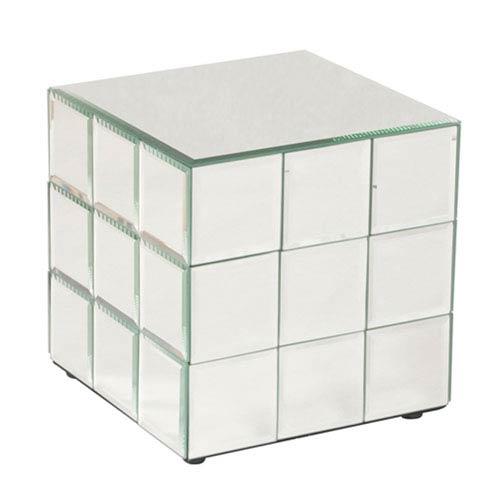 Howard Elliott Collection Antares Transparent Short Cube Pedestal