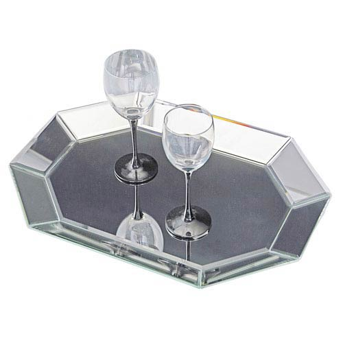 Howard Elliott Collection Octagonal Clear Decorative Tray