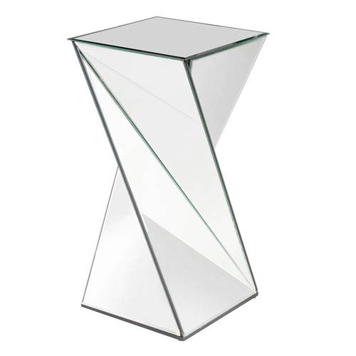 Howard Elliott Collection Aries Twisted Transparent End Table