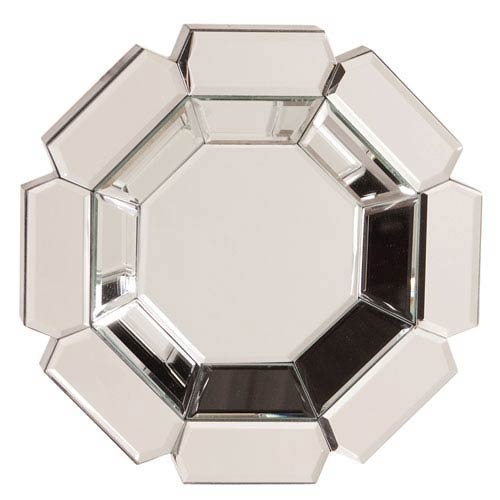 Howard Elliott Collection Charisma Clear Octagonal Mirror