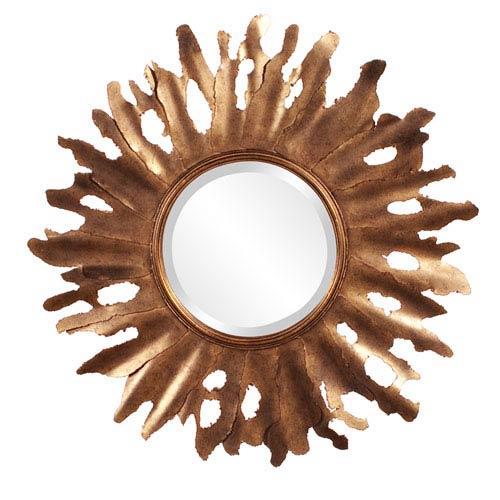 Howard Elliott Collection Compass Bronze Starburst Round Mirror