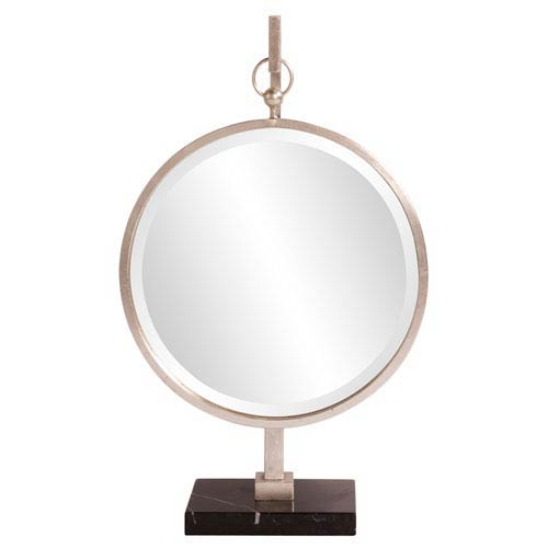 Medallion Silver Tabletop Mirror