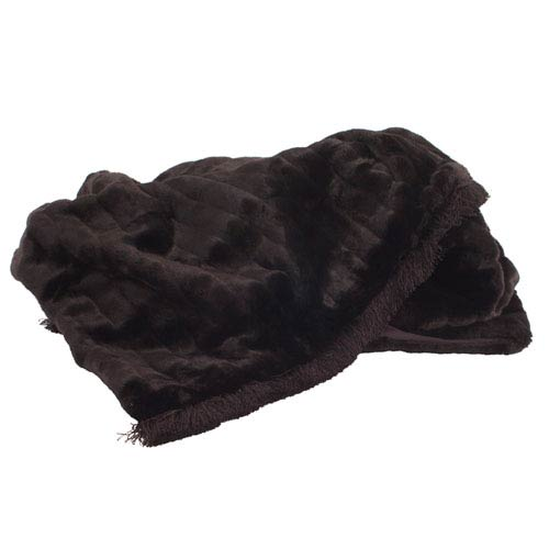Mink Black with Fringe Throw