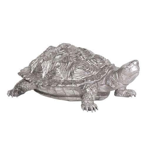 Turtle Pewter Textured Figurine