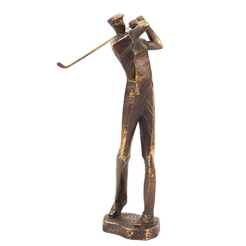Bronze Swinging Golf Player