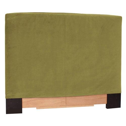 Howard Elliott Collection Bella Moss Green King Headboard Slipcover