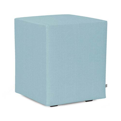 Howard Elliott Collection Sterling Breeze Universal Cube Ottoman