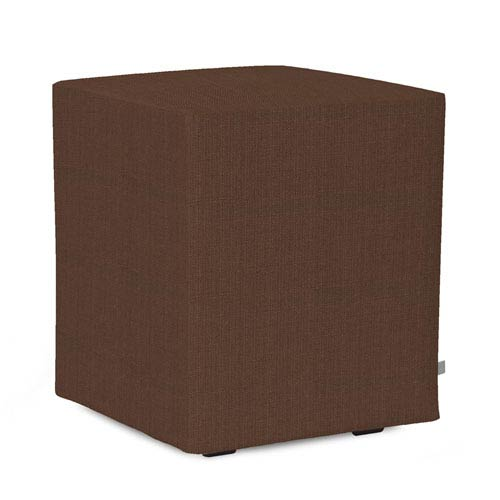 Howard Elliott Collection Sterling Chocolate Universal Cube Ottoman