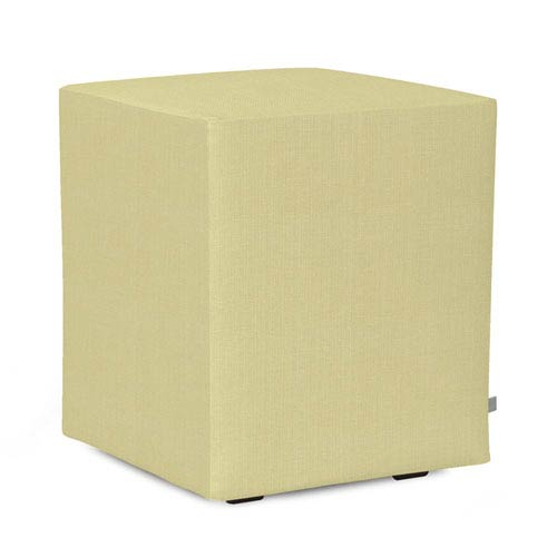 Howard Elliott Collection Sterling Willow Universal Cube Ottoman
