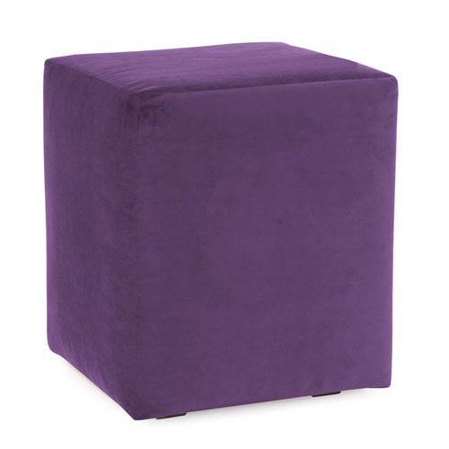 Howard Elliott Collection Bella Eggplant Universal Cube Ottoman