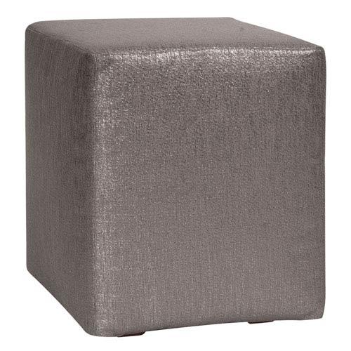 Howard Elliott Collection Glam Zinc Universal Cube Ottoman
