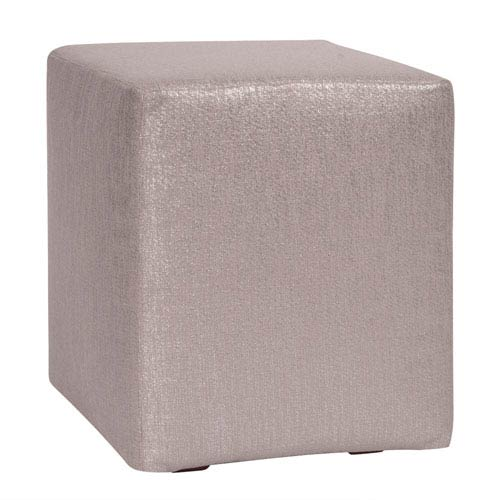 Howard Elliott Collection Glam Pewter Universal Cube Ottoman