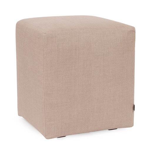 Howard Elliott Collection Prairie Linen Natural Universal Cube Ottoman