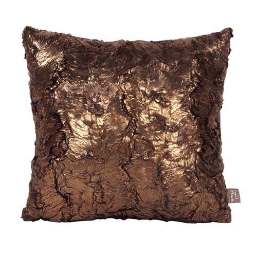Howard Elliott Collection Gold Cougar 16 x 16-Inch Pillow