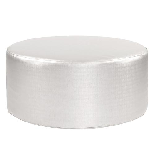 Luxe Mercury Universal 36-inch Round Ottoman