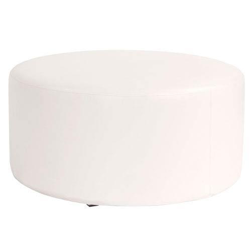 Avanti White Universal Round Ottoman