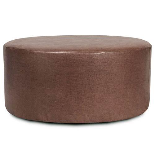 Howard Elliott Collection Avanti Pecan Universal Round Ottoman