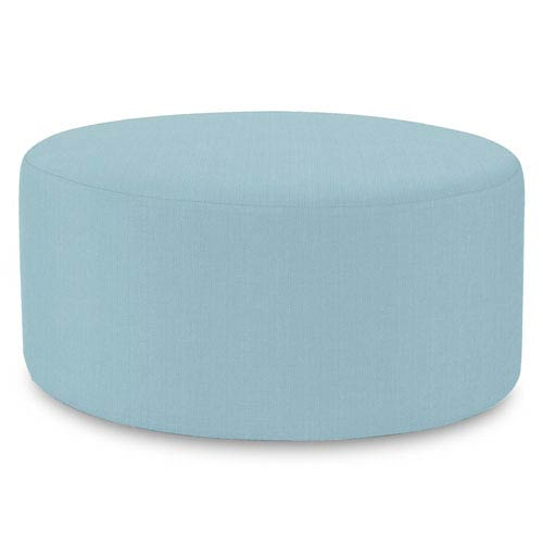 Howard Elliott Collection Sterling Breeze Universal Round Ottoman