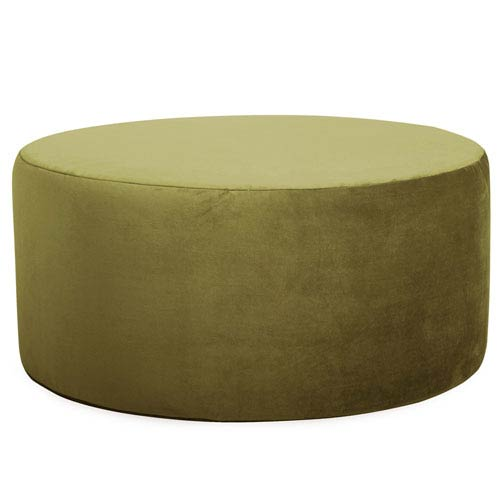 Howard Elliott Collection Bella Moss Green Universal Round Ottoman
