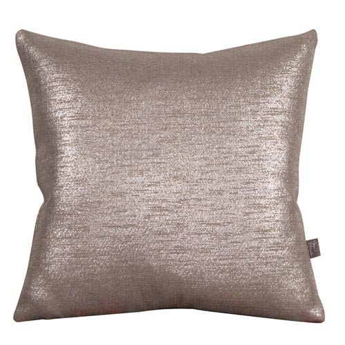 Glam Pewter 20 x 20-Inch Pillow with Down Insert