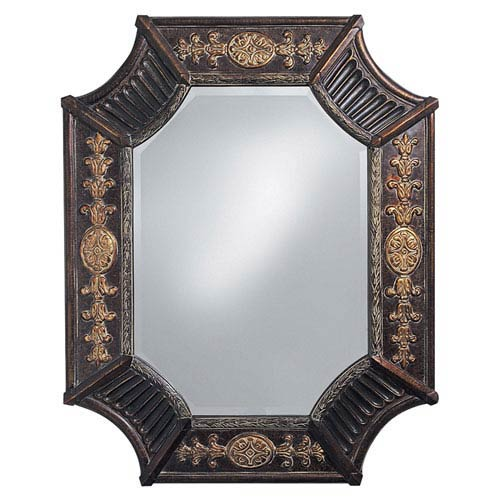 Howard Elliott Collection Orion French Brown Octagonal Mirror