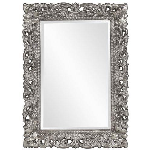 Howard Elliott Collection Barcelona Glossy Nickel Rectangle Mirror