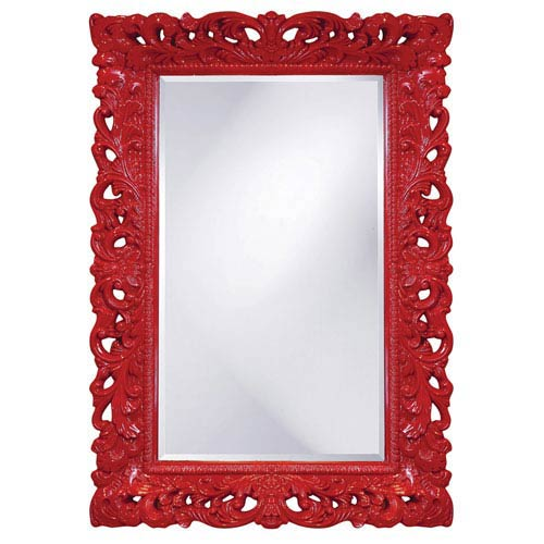 Barcelona Red Rectangle Mirror
