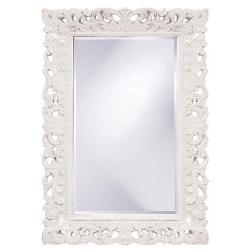 Howard Elliott Collection Barcelona White Rectangle Mirror
