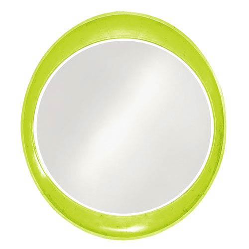 Howard Elliott Collection Ellipse Glossy Moss Green Round Mirror