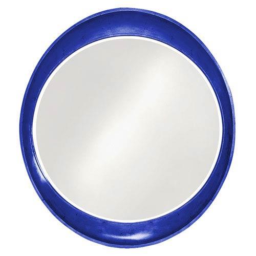 Howard Elliott Collection Ellipse Glossy Royal Blue Round Mirror