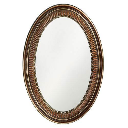 Howard Elliott Collection Ethan Bronze Oval Mirror