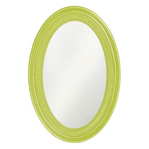 Howard Elliott Collection Ethan Glossy Moss Green Oval Mirror