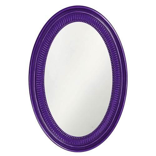 Howard Elliott Collection Ethan Royal Purple Oval Mirror