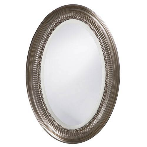 Ethan Nickel Oval Mirror