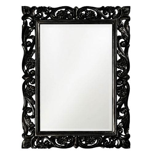Chateau Black 1-Inch Rectangle Mirror