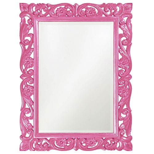 Howard Elliott Collection Chateau Hot Pink Rectangle Mirror