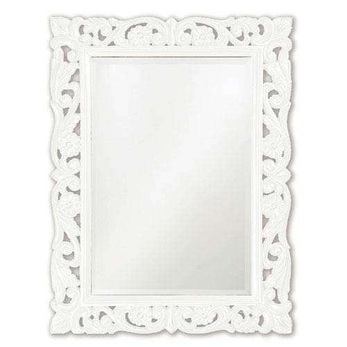 Howard Elliott Collection Chateau White Rectangle Mirror