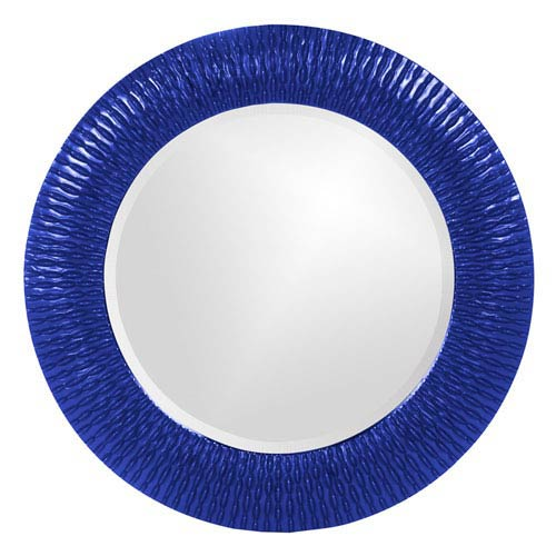 Howard Elliott Collection Bergman Royal Blue Small Round Mirror