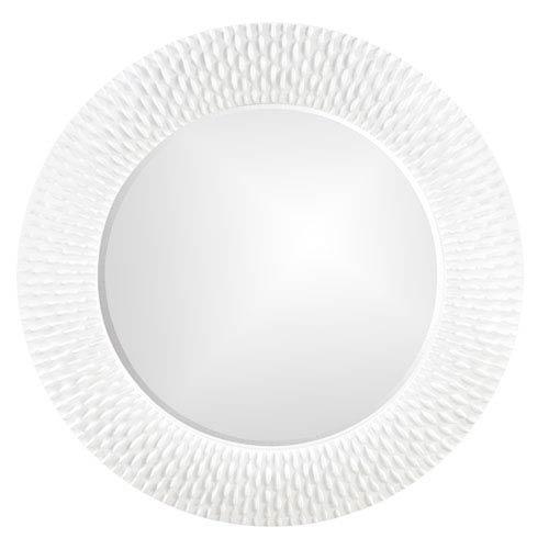 Bergman Glossy White Round Mirror