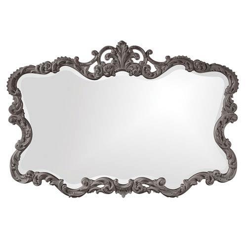 Howard Elliott Collection Talida Charcoal Gray Rectangle Mirror