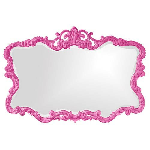 Talida Hot Pink Rectangle Mirror