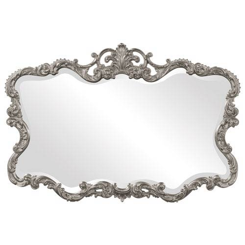 Howard Elliott Collection Talida Nickel Rectangle Mirror