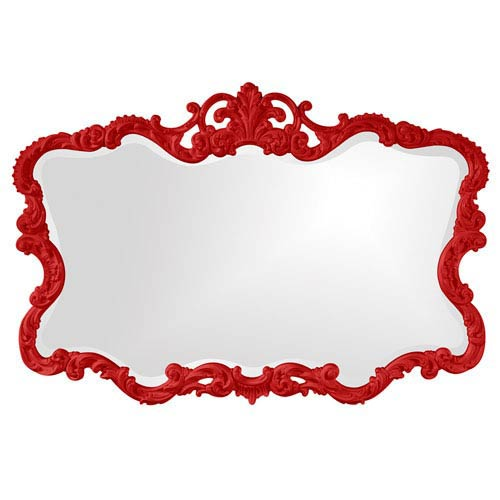 Howard Elliott Collection Talida Red Rectangle Mirror