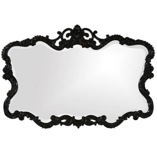 Howard Elliott Collection Talida Black 1-Inch Rectangle Mirror