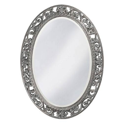 Suzanne Glossy Nickel Oval Mirror