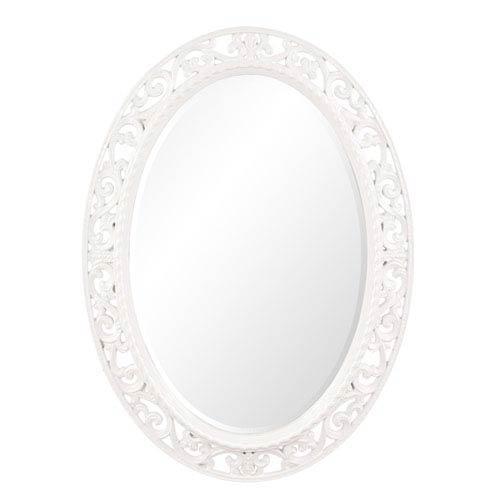 Howard Elliott Collection Suzanne White Oval Mirror