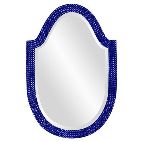 Lancelot Glossy Royal Blue Oval Mirror