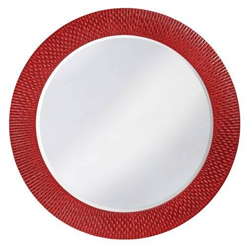 Bergman Glossy Red Large Round Mirror