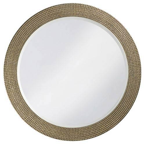 Howard Elliott Collection Lancelot Silver Round Mirror